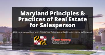Real estate salesperson license